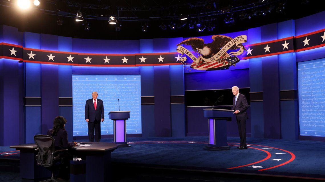 Donald Trump y Joe Biden debatieron por última vez y quedó mejor parado el republicano